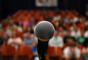 microphone-with-audience